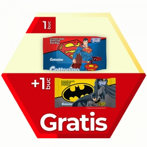 PROMO 1x72 pcs Wet Wipes Justice League+1x15 pcs Pack Free