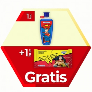PROMO 1xShampoo Justice League 250ml+1x15pcs Wet Wipes Free