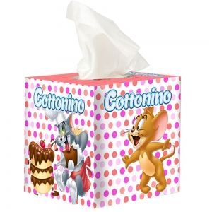 COTTONINO TISSUE BOX T&J PINK