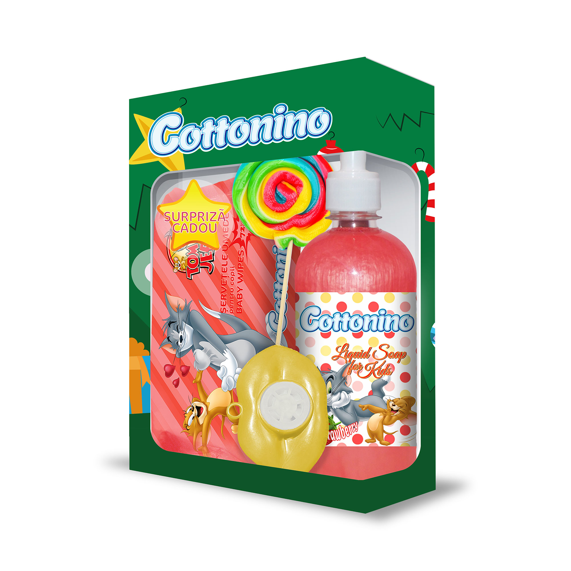 Cottonino Gift Box Tom & Jerry Strawberry