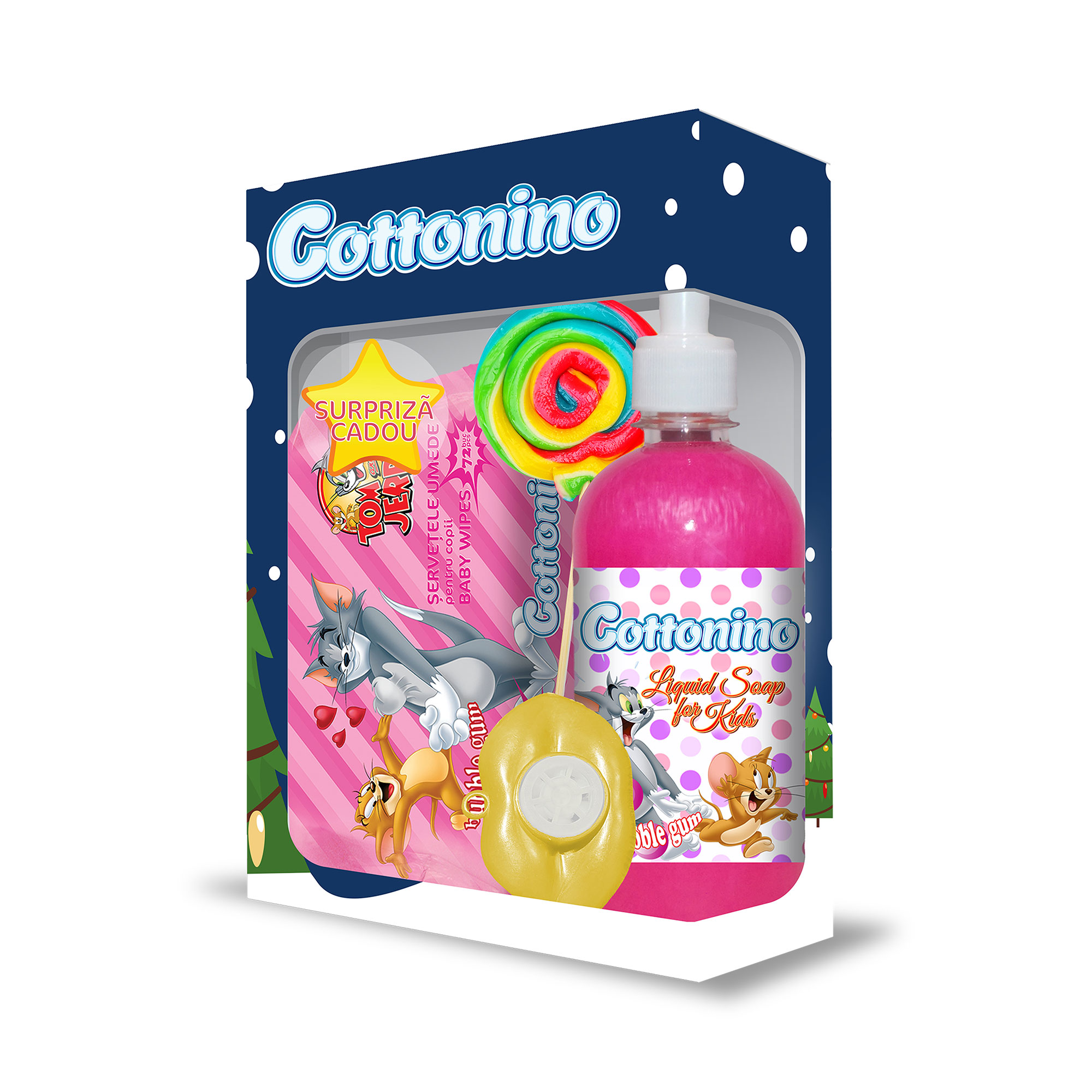 Cottonino Gift Box Tom & Jerry Bubble Gum