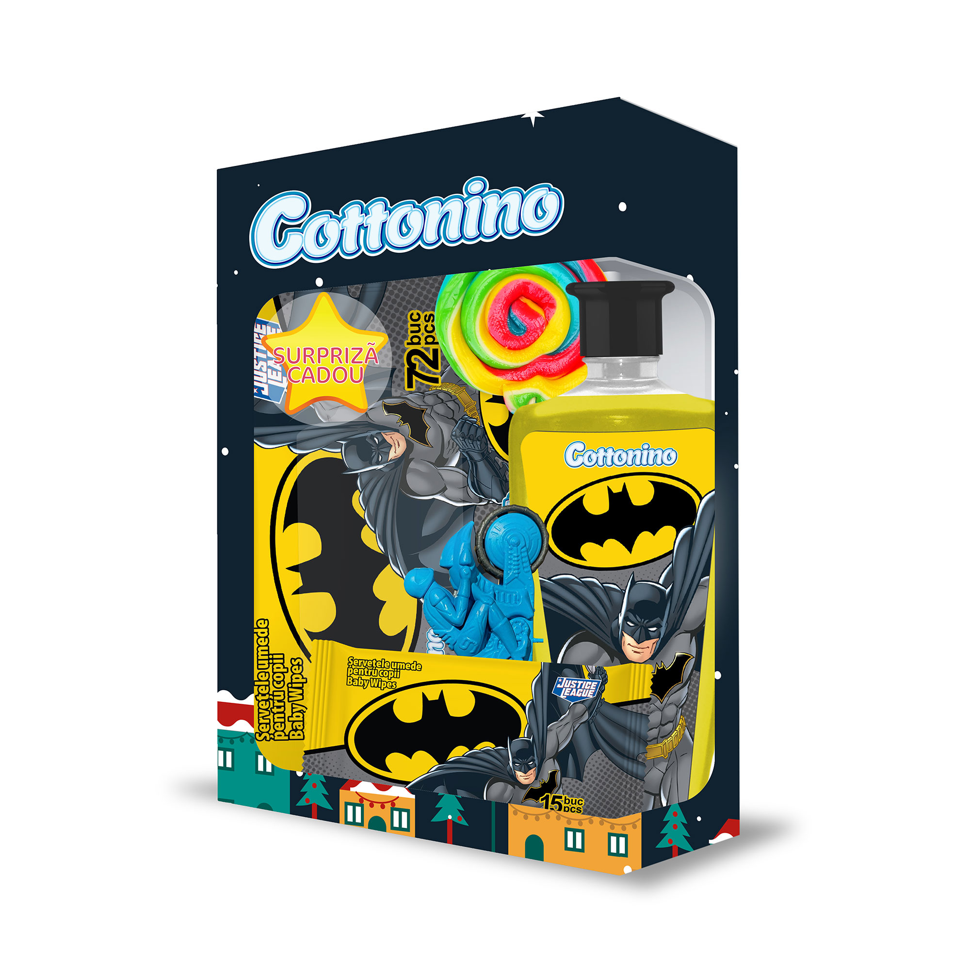Cottonino Gift Box JUSTICE LEAGUE BATMAN