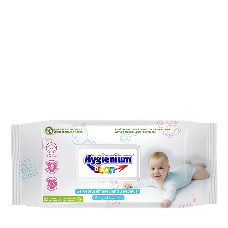 Hygienium BABY Servetele Umede cu extract de Tei si Aloe Vera