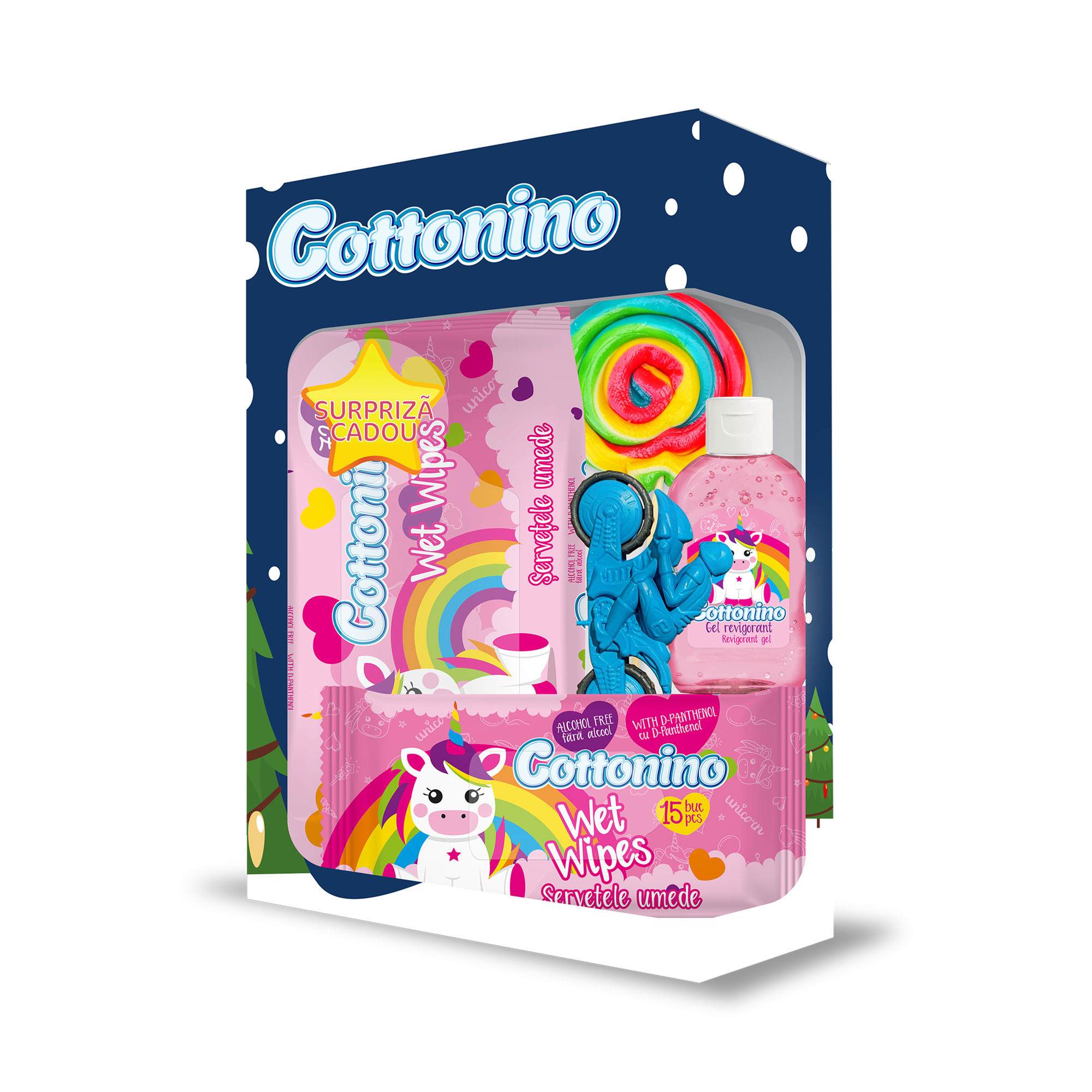 Cottonino Gift Box Unicorn Pink