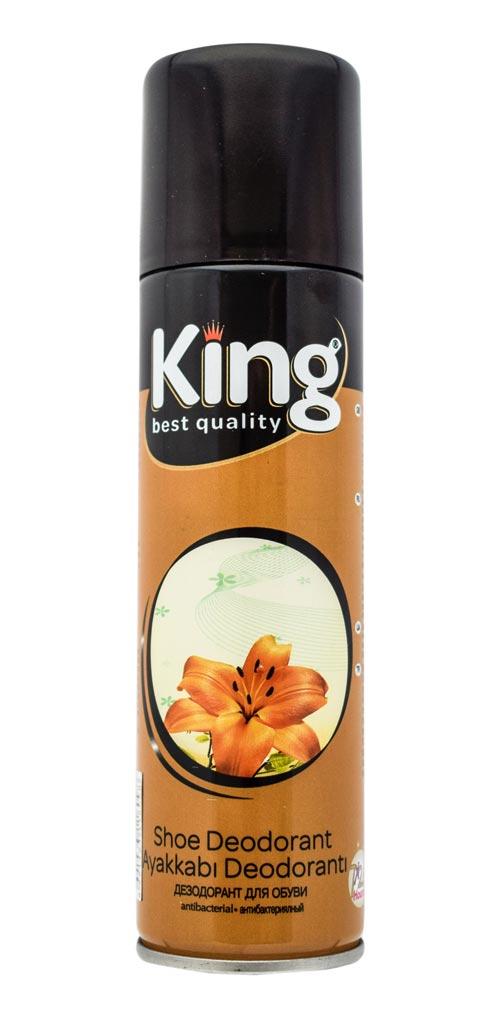 160 New King Anti bacterial Shoe Deodorant 150ml
