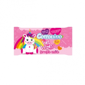 COTTONINO WET WIPES POCKET Unicorn Pink