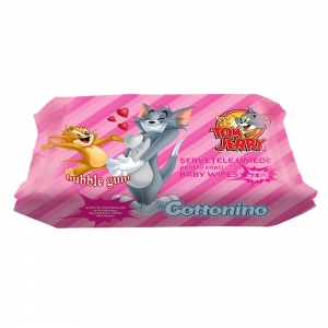 COTTONINO SERVETELE UMEDE TOM&JERRY BUBBLE GUM