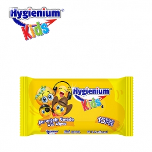 Hygienium KIDS Cleaning Wet Wipes Smiley Face 15 Pcs