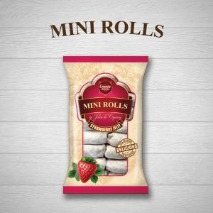 MINI-ROLLS WITH STRAWBERRY JELLY